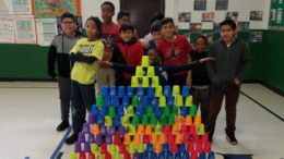 Sport stacking is not just about competition at Elmwood.  /Photo: Courtesy: ZDS6