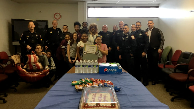 ZCMS students have lunch with the Zion Police Department. /Photos: Courtesy ZSD6