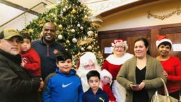 Mayor Sam Cunningham was able to give Christmas gifts to more than 500 children. /Photo: Courtesy SF
