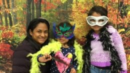 One West family poses in the Harvest Fest photo booth. Photo: Internet