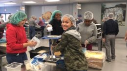 Students packed 46,008 meals that will feed 125 kids for a year. /Photo: Courtesy ZSD6